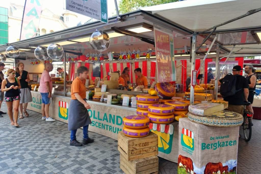 Cheese stall at Utrecht market