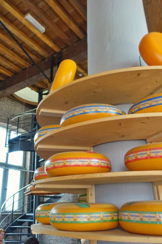 Cheese wheels at De Goudse Waag