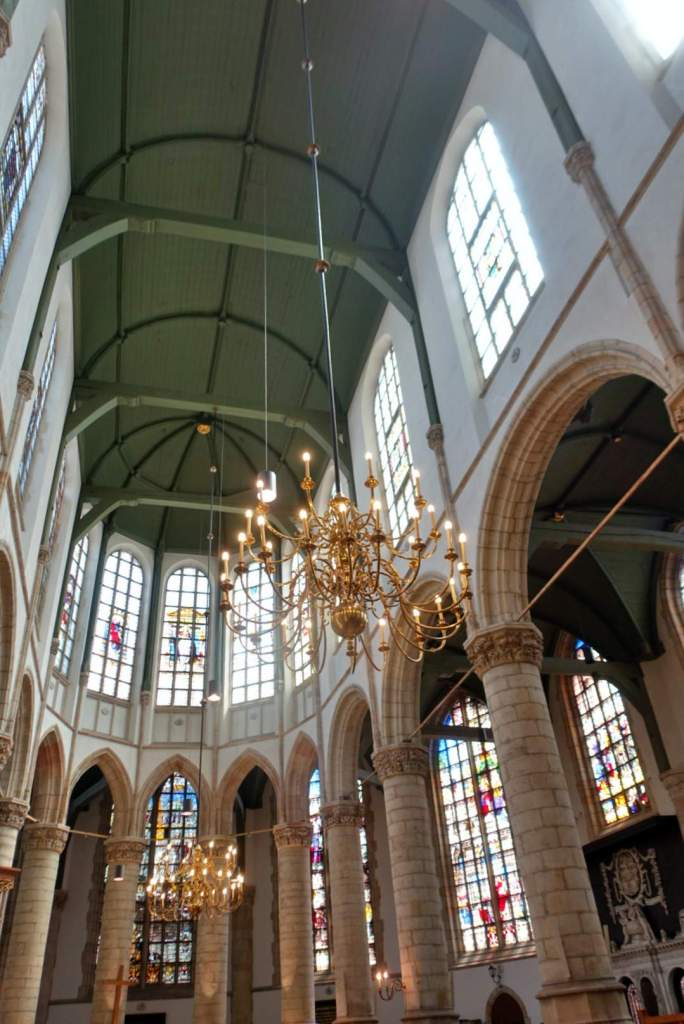 Inside Gouda cathedral