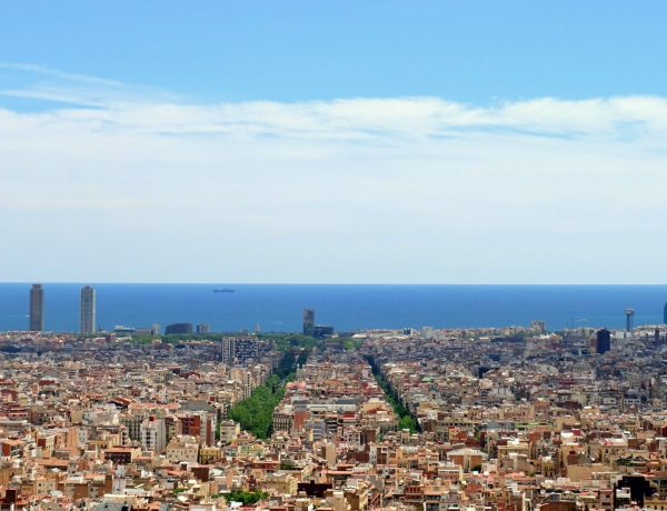 Panoramic view of Barcelona from Parc Guell