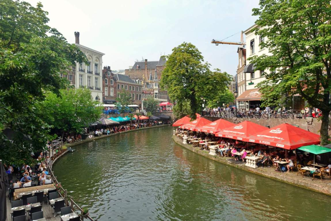 Tables on the canalside, Utrecht