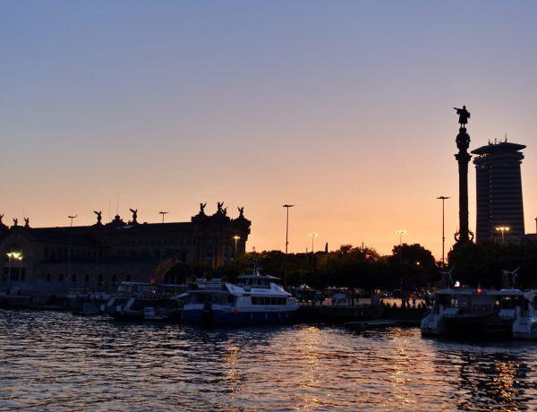 Sunset in Barcelona Harbour