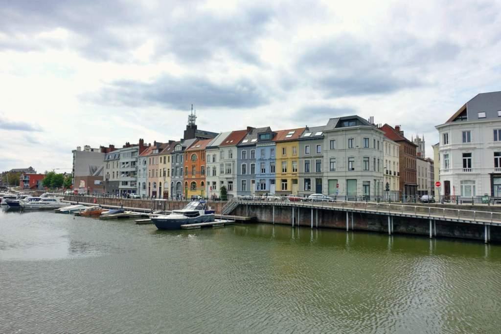 Colourful buildings on Portus Ganda