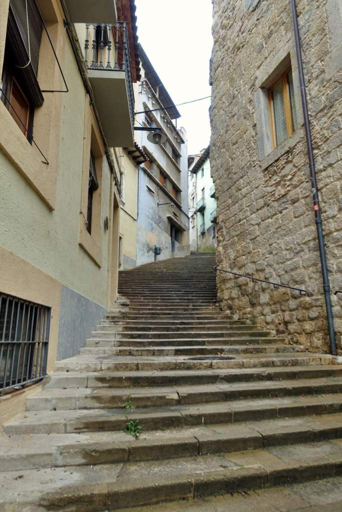 Girona old town steps