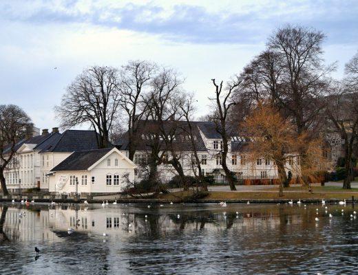 Houses on Breiavatnet, Stavanger