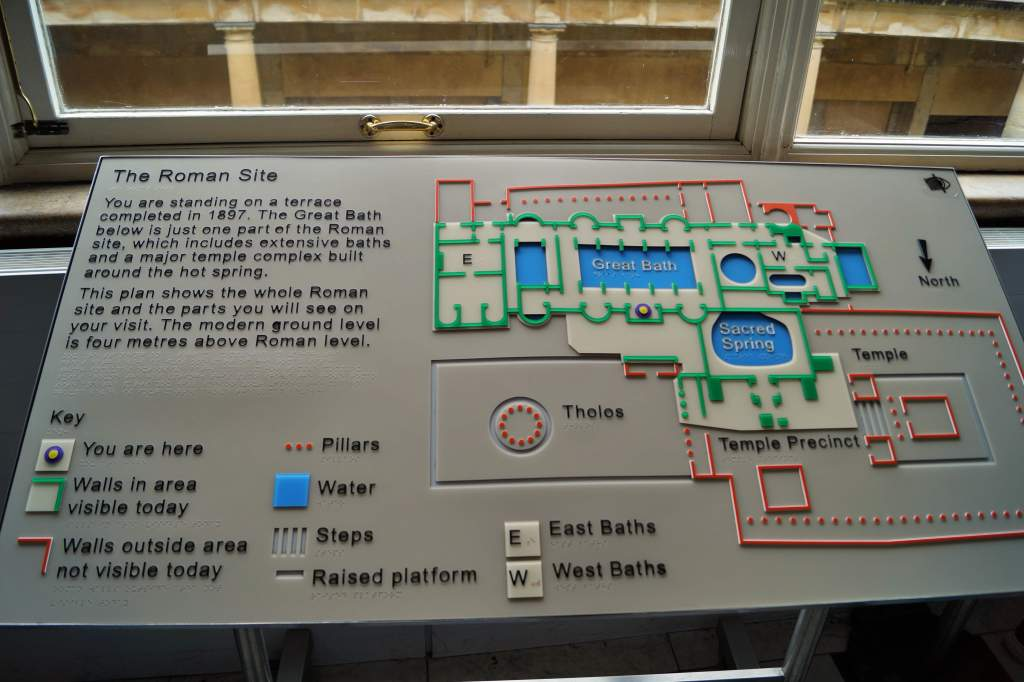 Map of Roman baths