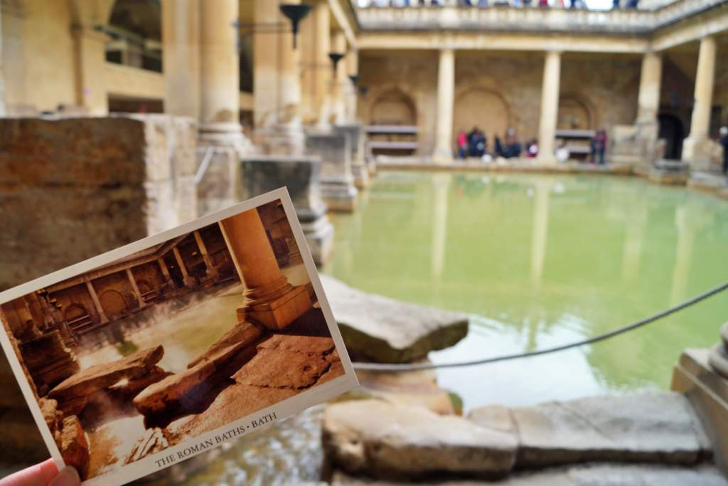 Roman baths postcard, Bath