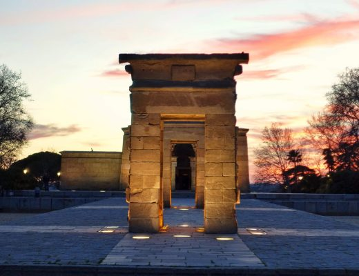Front view of Temple de Debod, Madrid