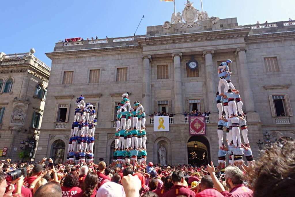 Human Towers at Spanish festival of La Merce