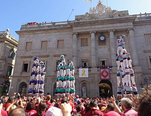 Human Towers at La Merce