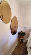21st Century Cottage - Bedroom 1 - Diamond table in rose mirror by BoConcept