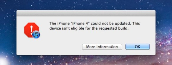 iPhone 4 will not update to iOS 5.1