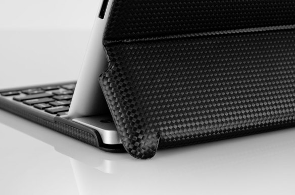 ZAGGfolio Carbon Fiber keyboard case close up