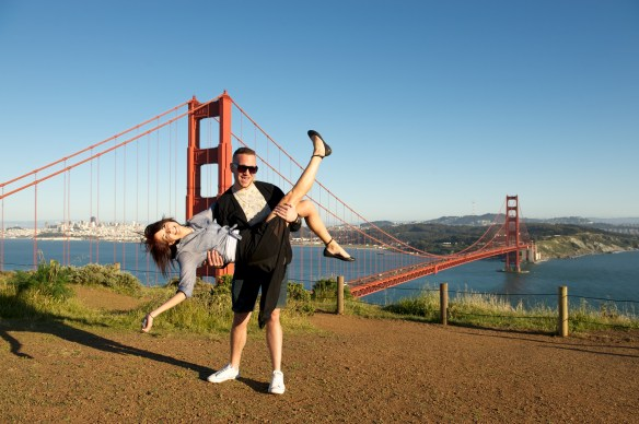 Alex and Joey at the Golden Gate Bridge
