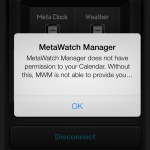 MetaWatch on iOS7