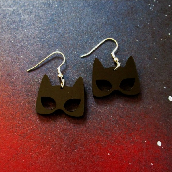 catwoman earrings on spacce background