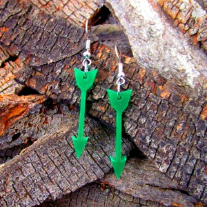 cute green arrow dangle earrings costume dc