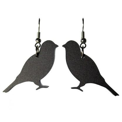 reverse black canary dangle earrings