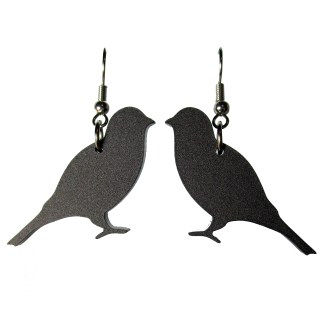 reverse black canary dangle earrings