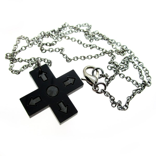 d pad directional controller pendant necklace with chain