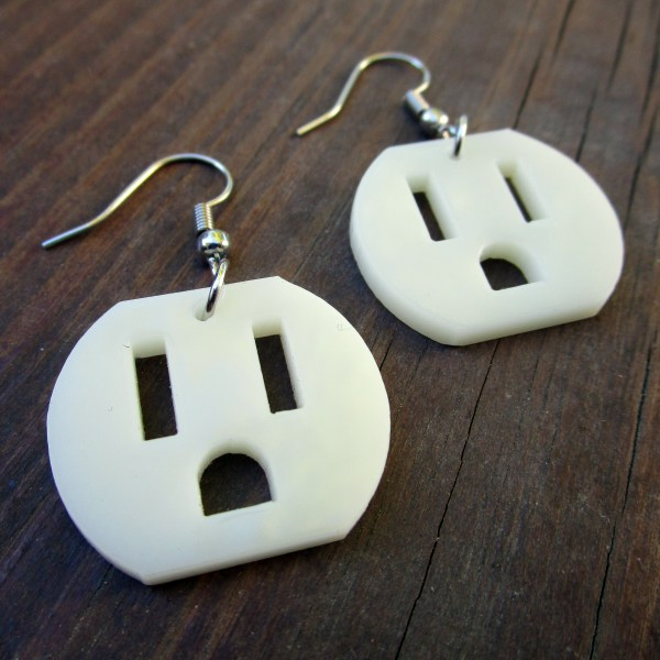weird outlet electrical face dangle earrings