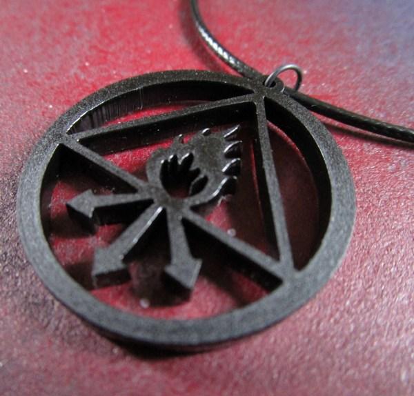 close up of sulfur chemistry symbol