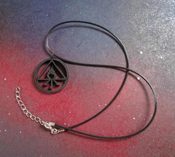far show of whole necklace that has Constantine banishment symbol pendant necklace