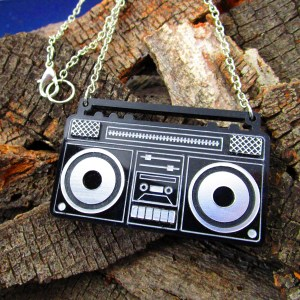 ghetto boom box pendant necklace