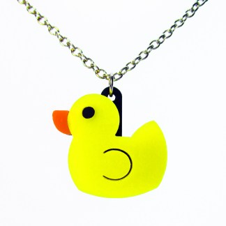 rubber duck ducky duckie charm pendant necklace