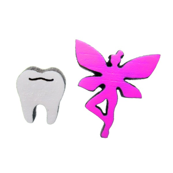 tooth fairy mismatched earring set