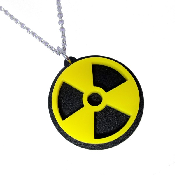 Atomic Nuclear Hazard Symbol Pendant Necklace Jewelry