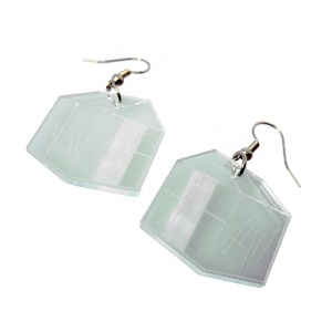 greenhouse shape glass colored plastic arboretum dangle earrings