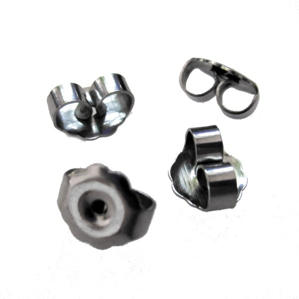 Push Friction Back Earring Nut stainless steel buttlerfly for stud posts