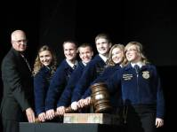 We clean up pretty good! Opening session at the 86th Kansas FFA Convention.