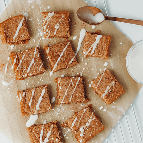 Vegan Caramel Chai Blondies