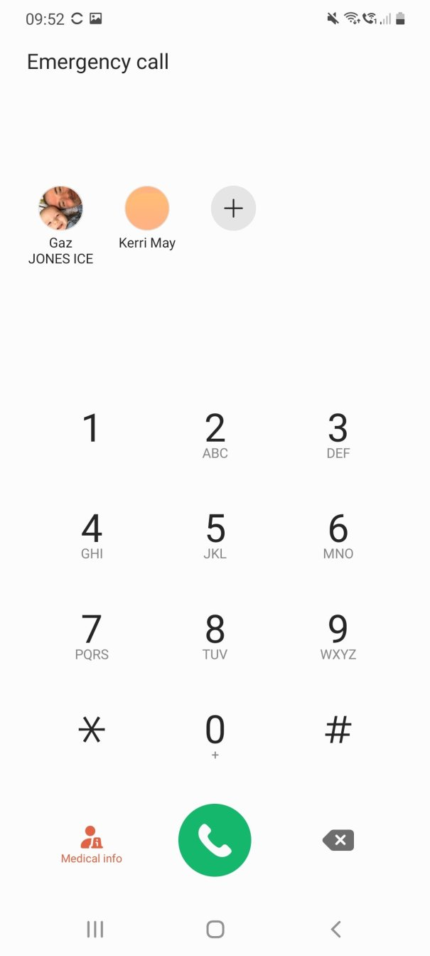 How to set up emergency contacts on a samsung