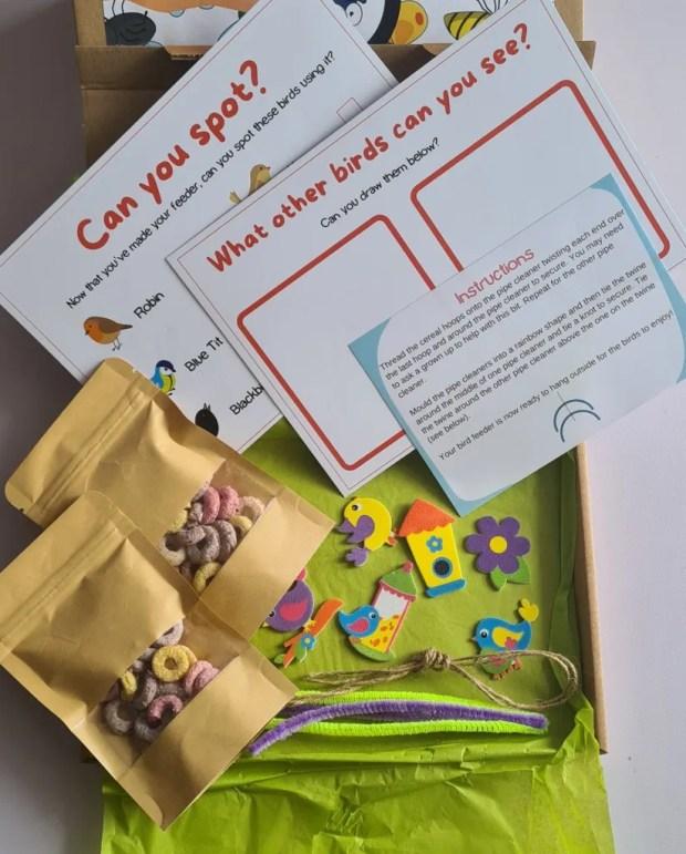 Craft Kits For Children Rainbow Bird Feeder