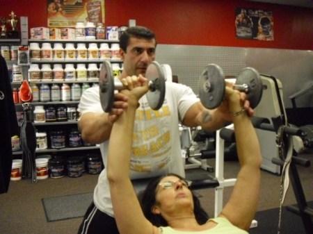 Greg Atoyan and Joyce Blonskij Workout Arms.