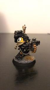 An Imperial Fist Devastator, in Deathwatch Armour. Painted by Kevin Williamson