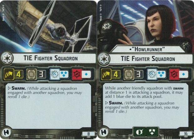Tie Fighters/Howlrunner Squadron Cards