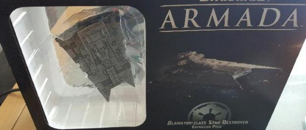 Boxed Gladiator class Star Destroyer from Star Wars Armada
