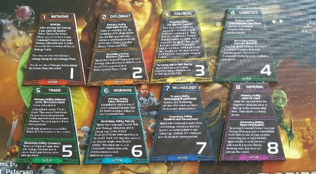 Twilight Imperium Strategy Cards