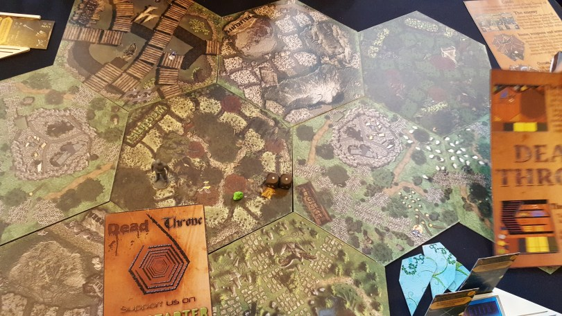 Dead Throne Game Board and Flyer