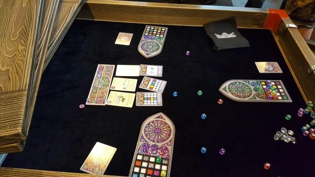 felt inlaid gaming table