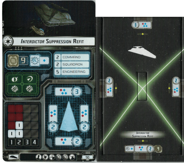 The Imperial Interdictor has two builds, Suppression and Combat refits. This is the suppression refit.