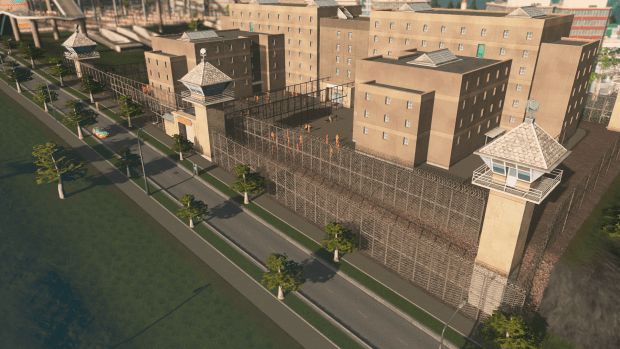 Building a Jail in Cities Skylines keeps repeat offenders off the street reducing crim