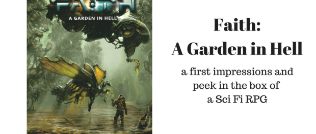 Faith: a Garden in Hell is a sci fi rpg following a squad of Coalition Marines as they try to survive on a hostile planet, whilst still achieving their objective.