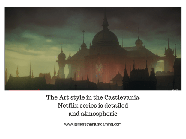 The Art Style in Castleevania Netflix Series is Spooky and atmospheric
