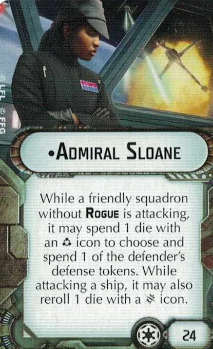 Admiral Sloan of Star Wars Armada