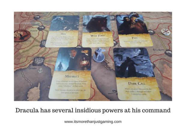 In Fury of Dracula, Dracula has several insidious powers at his command